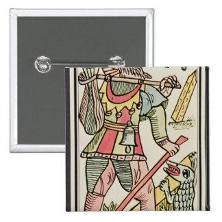 Expiation, carte de tarot, française badge