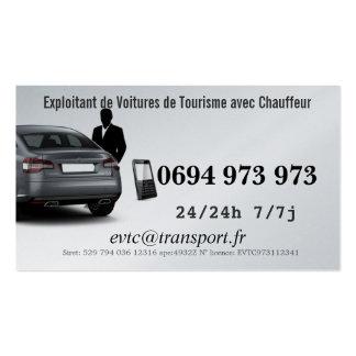 Exploitant de Voitures de Transport avec Chauffeur Carte De Visite Standard