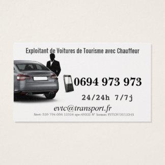 Exploitant de Voitures de Transport avec Chauffeur Cartes De Visite