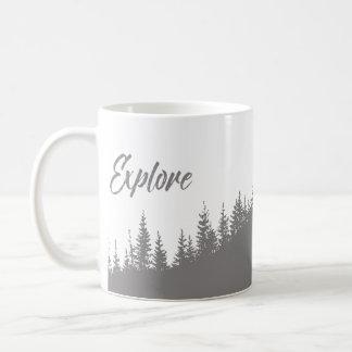 Explorez la forêt jolie mug