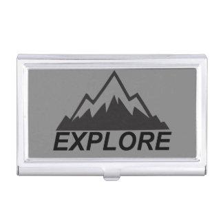 Explorez la nature et la région sauvage de boîtier pour cartes de visite