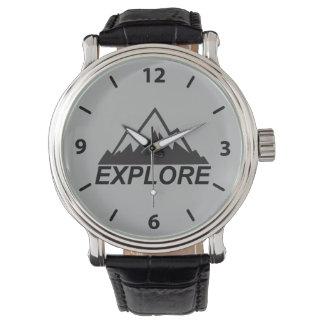 Explorez la nature et la région sauvage de montres bracelet