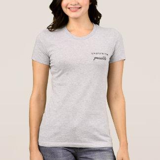 Explorez la pièce en t possible d'étiquette t-shirt