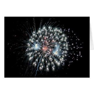 Explosion en altitude 1 de feux d'artifice cartes de vœux