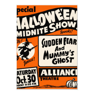 Exposition de Halloween Midnite Carton D'invitation 12,7 Cm X 17,78 Cm