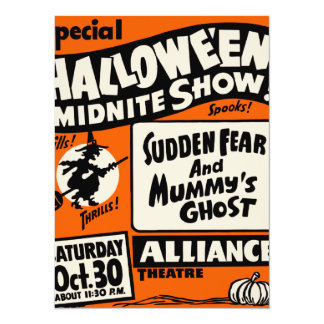 Exposition de Halloween Midnite Carton D'invitation 13,97 Cm X 19,05 Cm