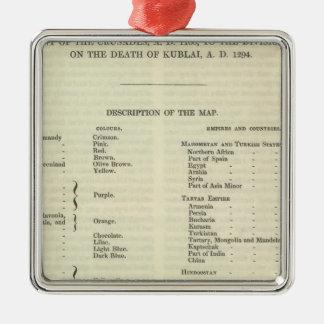 Exposition de l'empire de l'ANNONCE 1294 de Kublai Ornement Carré Argenté