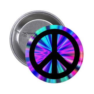 Exposition de lumière d'Aqua avec le signe de paix Badges Avec Agrafe