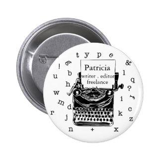 Exposition de machine à écrire votre amour badge
