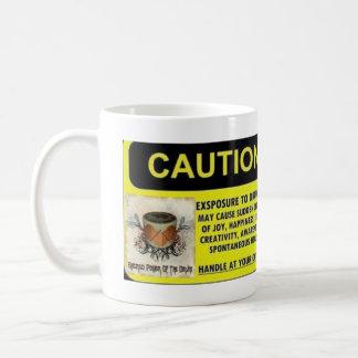 Exposition de précaution à battre du tambour de la mug