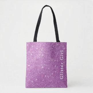 Exposition rose de fille de scintillement votre tote bag