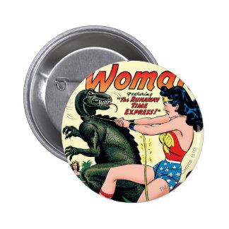 Express de temps d'emballement de femme de badges