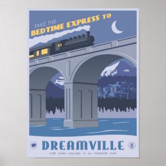 Express heure du coucher à Dreamville Poster