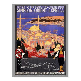 Express Londres Constantinople de Simplon l'orient Cartes Postales