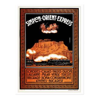 Express vintage Athènes de Simplon l'orient d'art Carte Postale