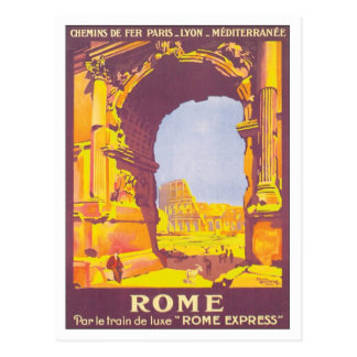 Express vintage de Rome Carte Postale