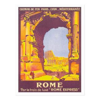 Express vintage de Rome Cartes Postales