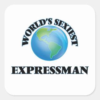 Expressman le plus sexy du monde autocollants carrés