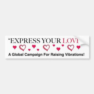 Exprimez votre amour ! autocollant de voiture