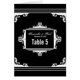 Exquisite Black and White Table Number Cards