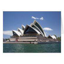 Extérieur de théatre de l'opéra de Sydney, Sydney, Carte De Vœux