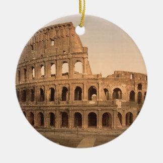 Extérieur du Colosseum, Rome, Italie Ornement Rond En Céramique