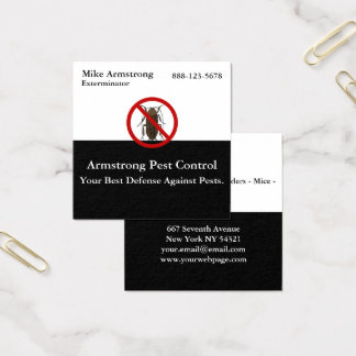 Exterminateur d'insecte d'insecte de lutte contre carte de visite carré