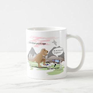 Extinction de dinosaure mug