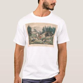 Extraction de l'or en Californie (0636A) T-shirt
