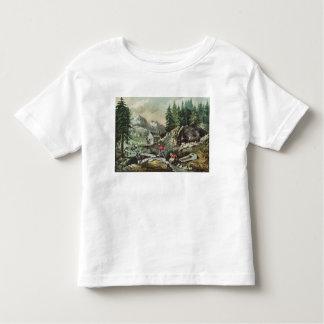 Extraction de l'or en Californie, 1871 T-shirt Pour Les Tous Petits