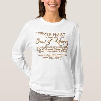 Extrémiste dangereux : Affiche du 18ème siècle de T-shirt