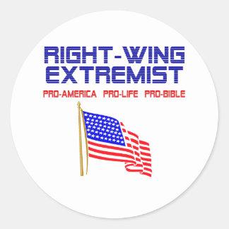 Extrémiste de droite sticker rond