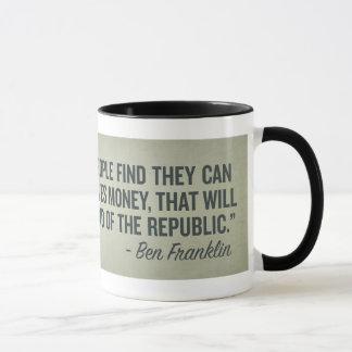 Extrémité de Franklin de la tasse de République