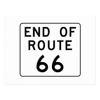 Extrémité de signe de l'itinéraire 66 carte postale