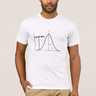 Extrémité fausse du T-shirt de courbe de cloche