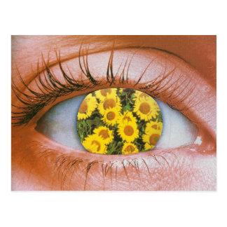 Eye-flowered Postcard Carte Postale