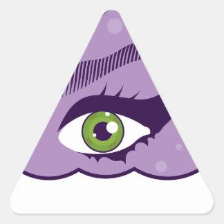 EyeInHeaven.pdf Sticker Triangulaire