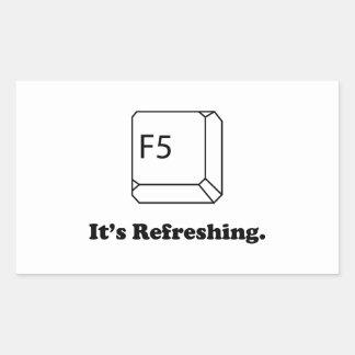F5 qu'il régénère autocollant en rectangle