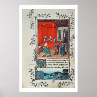 f.93v la naissance de Jean-Baptist et du Baptis Posters