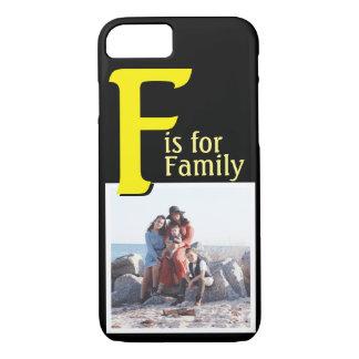 F pour la famille coque iPhone 7