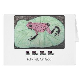 F.R.O.G. - Comptez entièrement sur le carte pour
