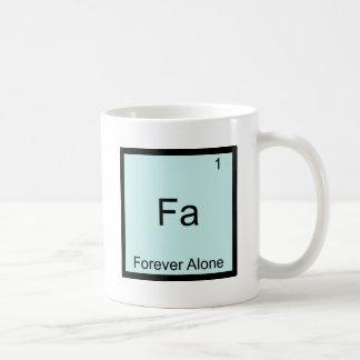 Fa - Pour toujours seulement chimie drôle de Meme  Tasse