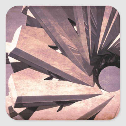 Fabrication abstraite sticker carré