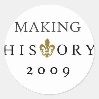 FABRICATION DE LA NATION DE L'HISTOIRE 2009 WHODAT STICKER ROND