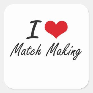 Fabrication de l'association amoureuse I Sticker Carré