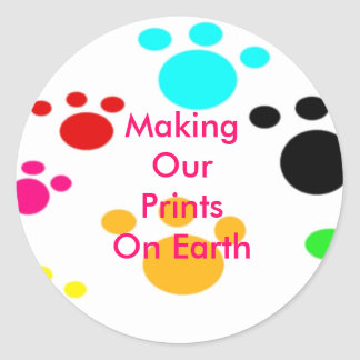 Fabrication de nos copies sur l'autocollant de la sticker rond