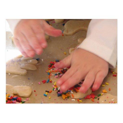 Fabrication des biscuits de sucre carte postale