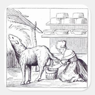 Fabrication des fromages en Suisse, après un Sticker Carré