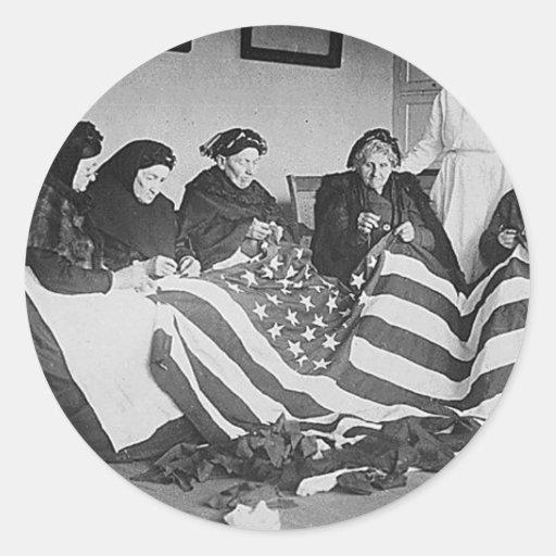 Fabrication du drapeau adhésif rond