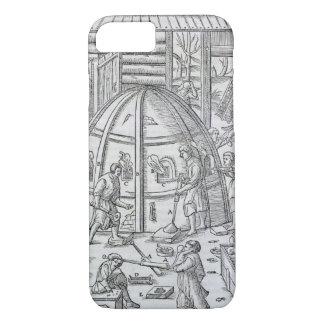 Fabrications du verre, illustration montrant le coque iPhone 7
